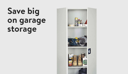 Save big on garage storage