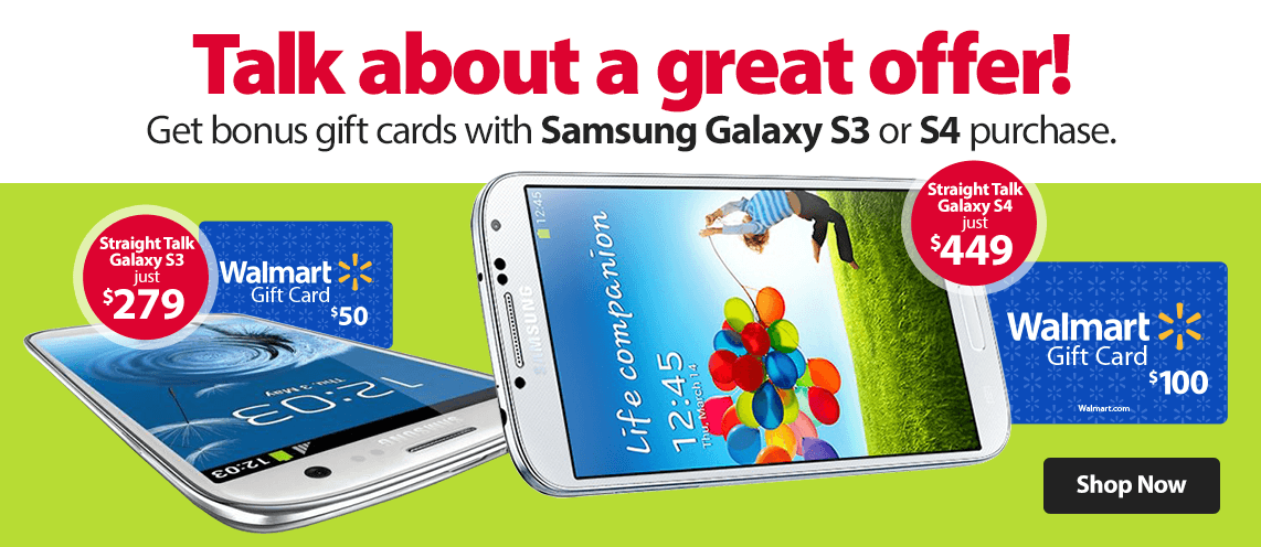 Samsung Galaxy Phones with Bonus Gift Cards
