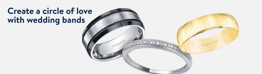 create a circle of love with wedding bands - Wedding Engagement Rings