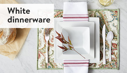 White dinnerware.