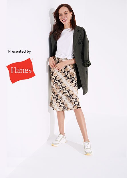 7b12a9141a6f7 Hanes white tees & other wardrobe essentials to work into the mix.  Presented by Hanes. For women