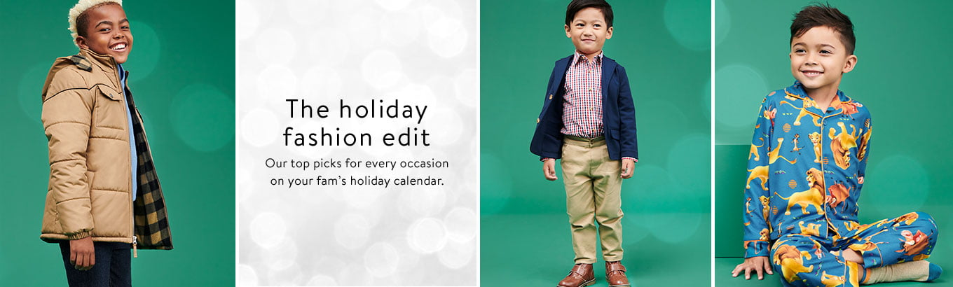 The holiday fashion edit. Our top picks for every occasion on your fam's holiday calendar