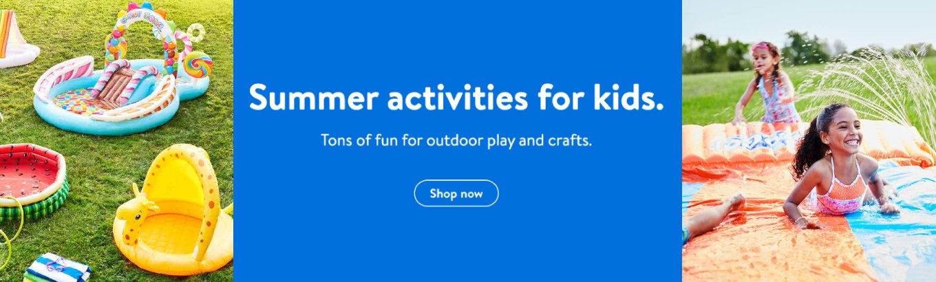 Summer activities for kids. Tons of fun for outdoor play and crafts. Shop now.