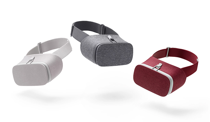 Google Daydream View smartphone virtual reality headset