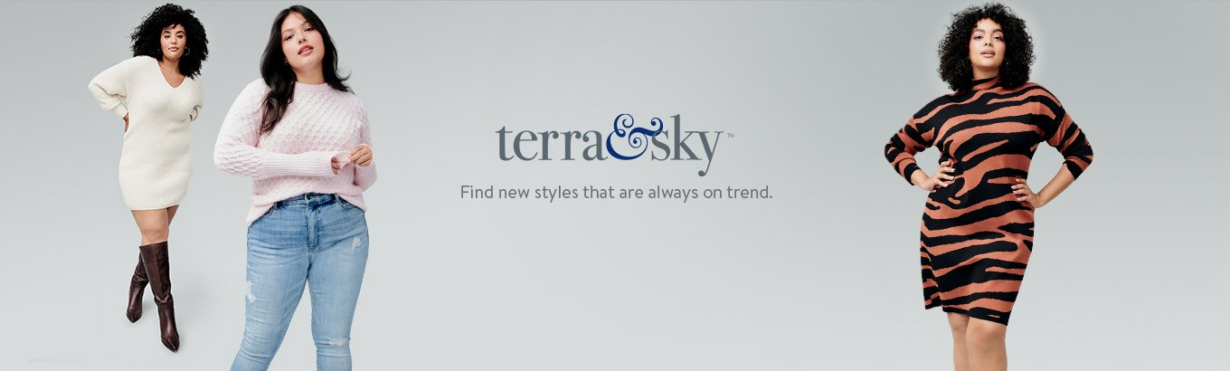 Terra and Sky logo. Find new styles that are always on trend.