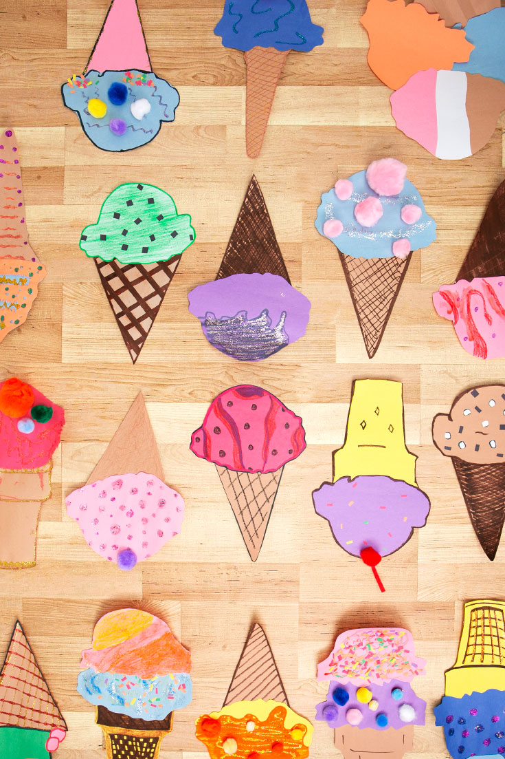 How to Make Cute Paper Ice Cream Cone Crafts - Walmart.com