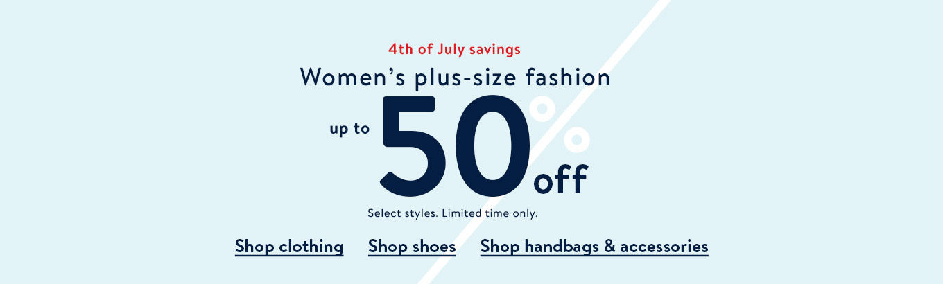 2a5dd1a5bf Women's plus-size fashion up to 50% off.
