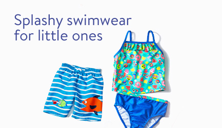 Splashy swimwear for little ones