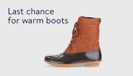 Last chance for warm boots