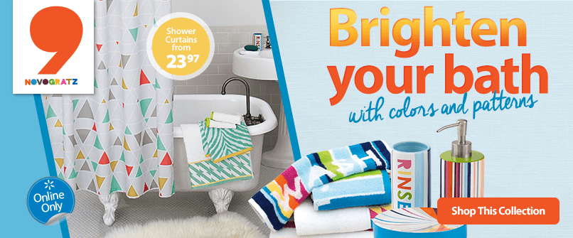 Brighten your bath with colors and patterns.