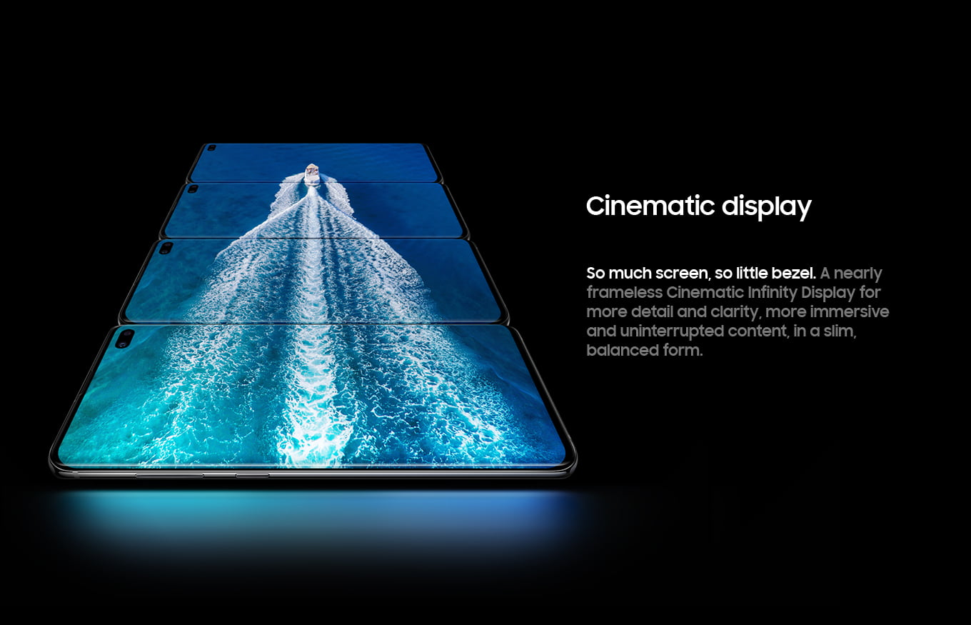 Cinematic display. So much screen, so little bezel.