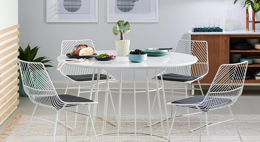 Introducing MoDRN. Revamp your dining room with on-trend finds from our exclusive line of modern designs.