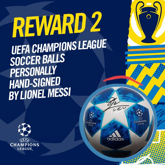 UEFA Champions League Soccer Balls Personally Hand-Signed by Lionel Messi