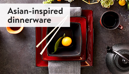 Asian-inspired dinnerware