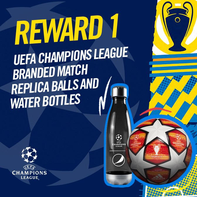 UEFA Champions League Branded Match Replica Balls and Water Bottles