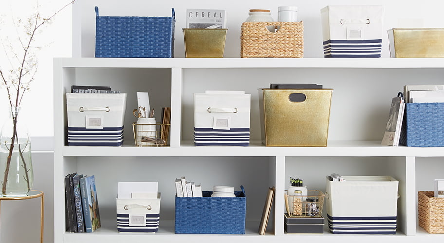 On-trend Clutter-Busters. Organize in style with storage solutions that are beautiful enough to show off. Whether you just want to put some stray items in a single place or minimize the clutter, there's something here for every need.