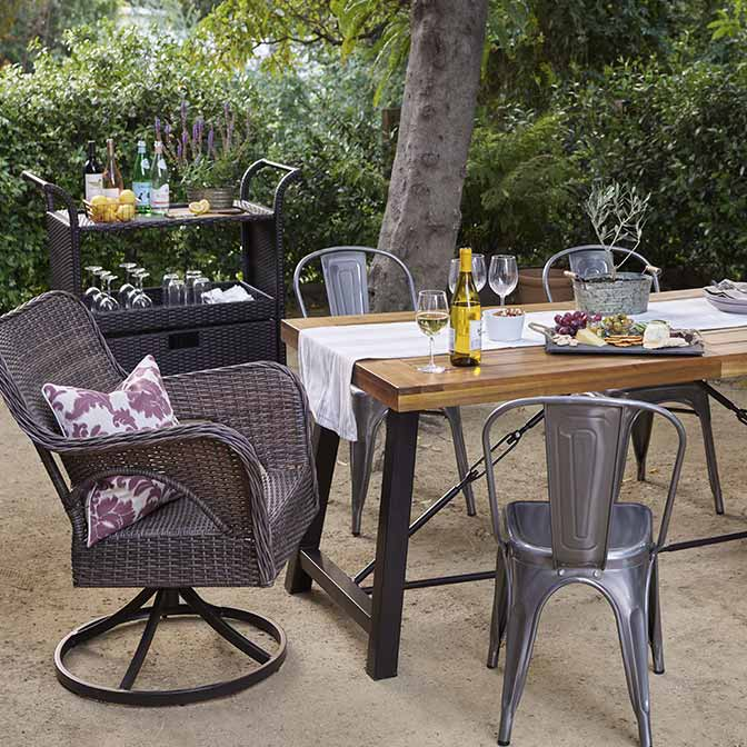 Give Your Patio A Farmhouse Feel.