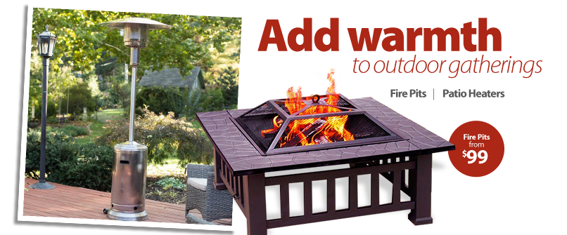 Add warmth to outdoor gatherings.