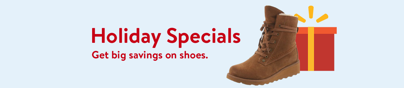Holiday Specials: Get big savings on shoes.