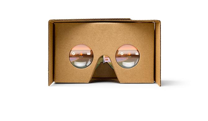 Google Cardboard smartphone virtual reality headset