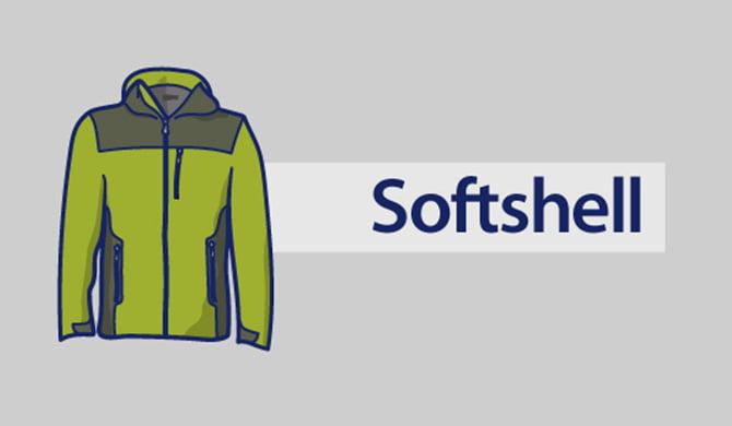 Softshell jacket.
