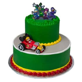 Green Mickey Tier Cake