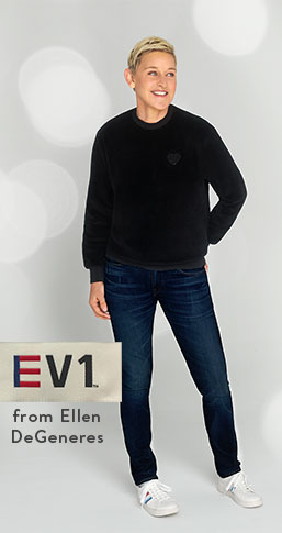 EV1 from Ellen DeGeneres, exclusively at Walmart. Shop denim from sixteen dollars.