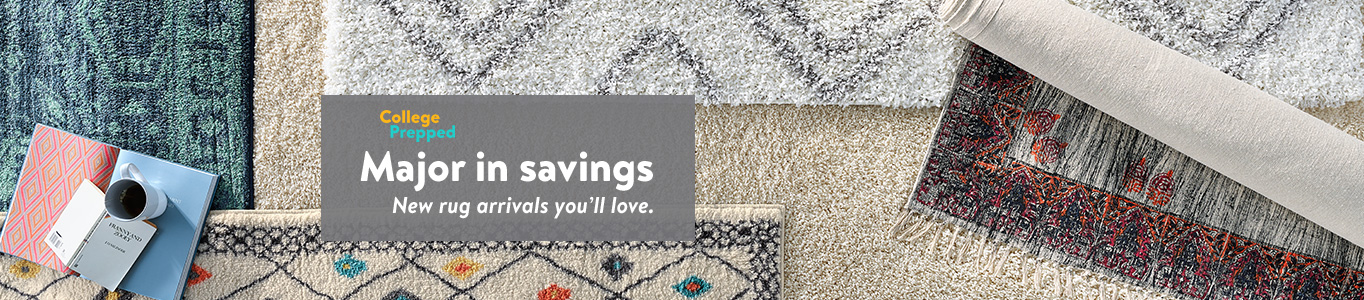 Exceptional New Arrivals In Rugs For Your Dorm.