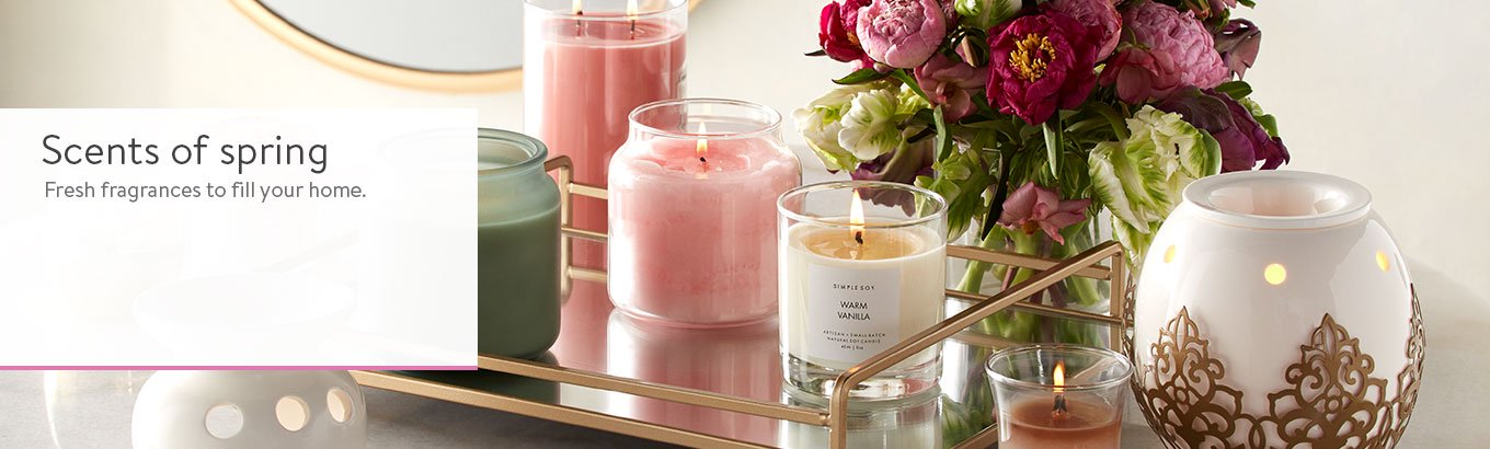 Spring Home Fragrance Candles Wax Warmers Diffusers