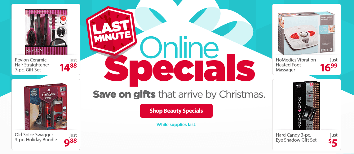 Last Minute Gifts Online Specials