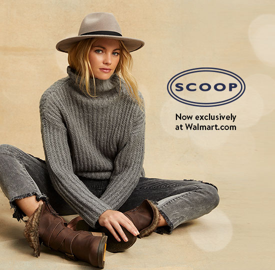 A new Scoop holiday collection, now exclusively at Walmart.com. Party-ready styles from twenty-five dollars. Shop all.