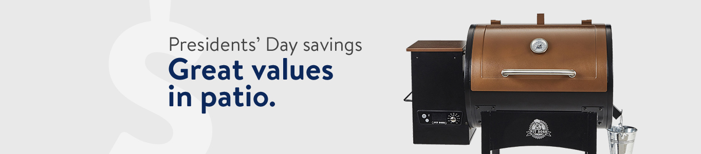 Shop Presidents' Day saving in grills