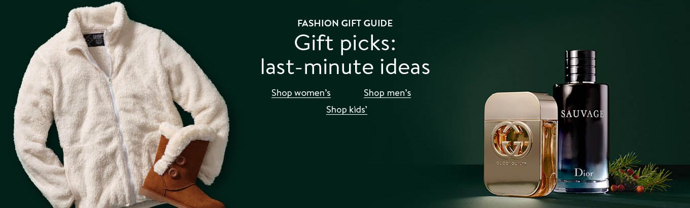 Fashion gift guide: gifts we love. From neon sweaters to classic puffers, these are the picks that top our list. Shop women's. Shop men's. Shop girls'. Shop boys'.