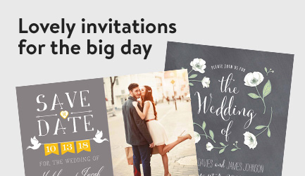 Lovely invitations for the big day