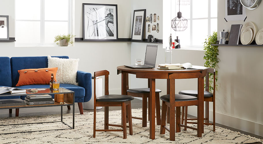 Room to gather. Dining tables and chairs for small spaces.