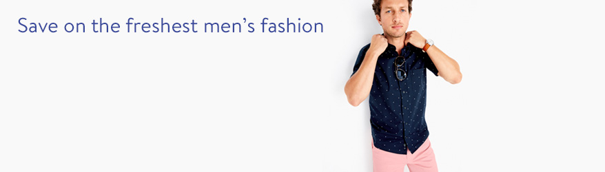 Save on the freshest men's fashion