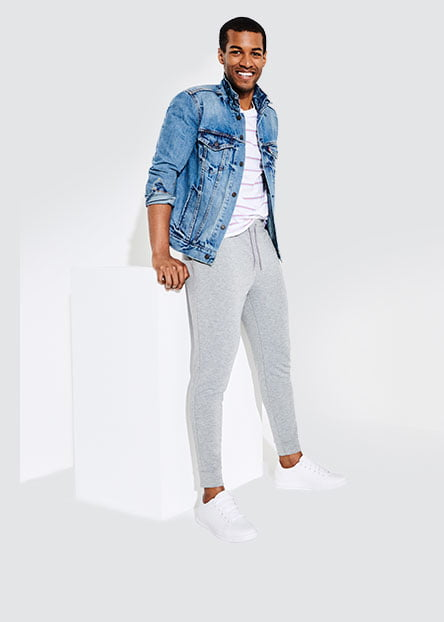 e4cdb059e01c For men. Staple pieces like joggers and Hanes white tees to style with your  go