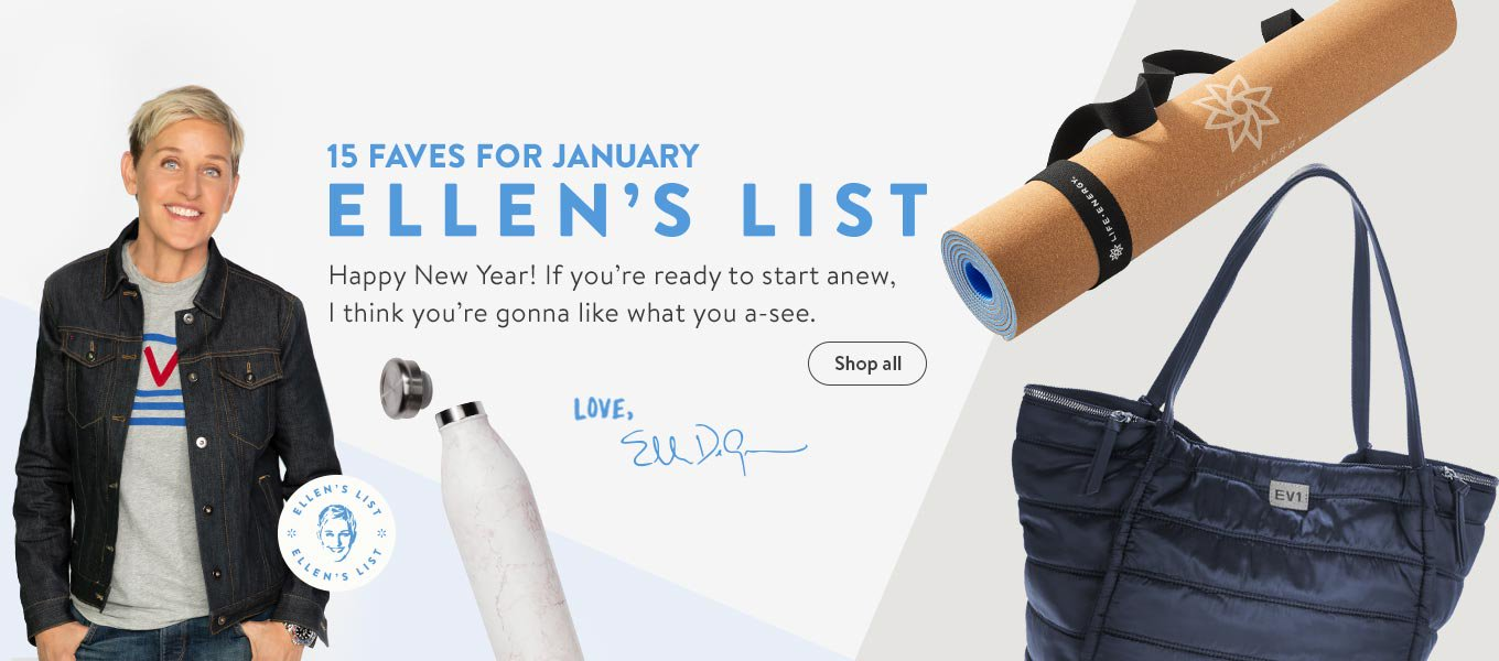 Ellens List 15 Faves For January Happy New Year If Youre