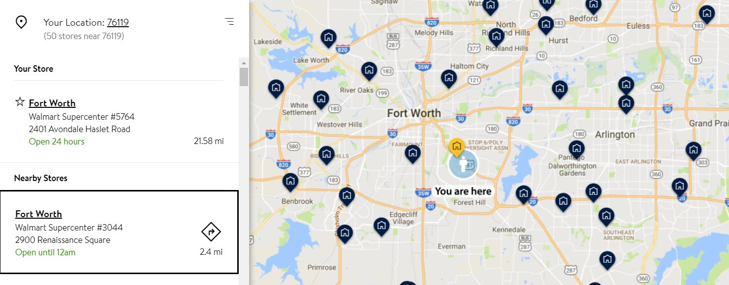 Walmart.com Help: Find Store Location, Hours and Information