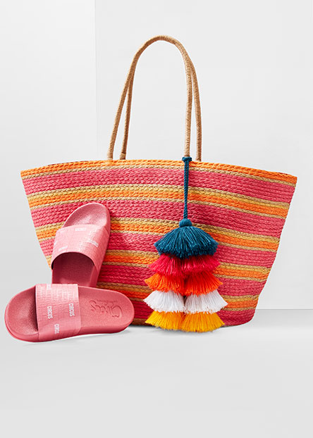 f7703cc12 The best straw totes and bright slides to bring seaside.