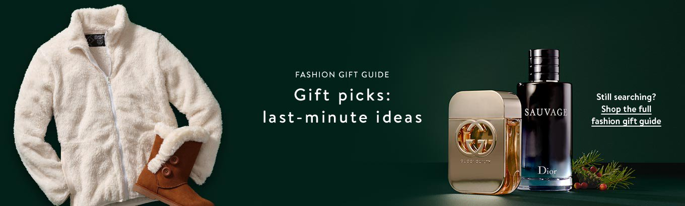 Fashion gift guide. Designer gift picks. Extra-special luxury items from coveted brands. Still searching? Shop the full fashion gift guide.