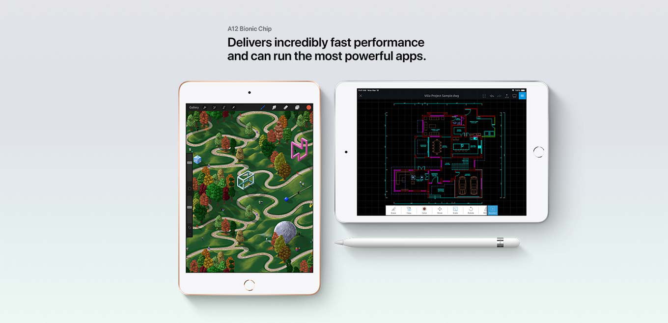 The A12 Bionic Chip delivers incredibly fast performance