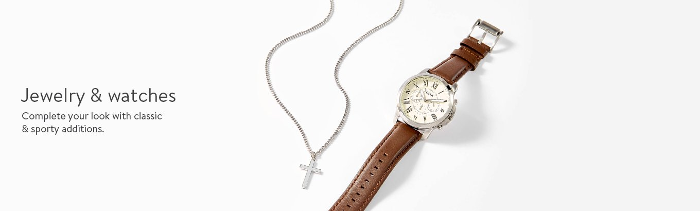 Jewelry & watches. Complete your look with classic & sporty additions.