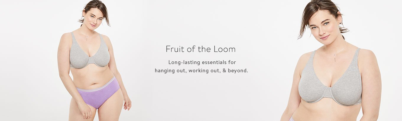 Fruit of the Loom. Long-lasting essentials for hanging out, working out, & beyond.