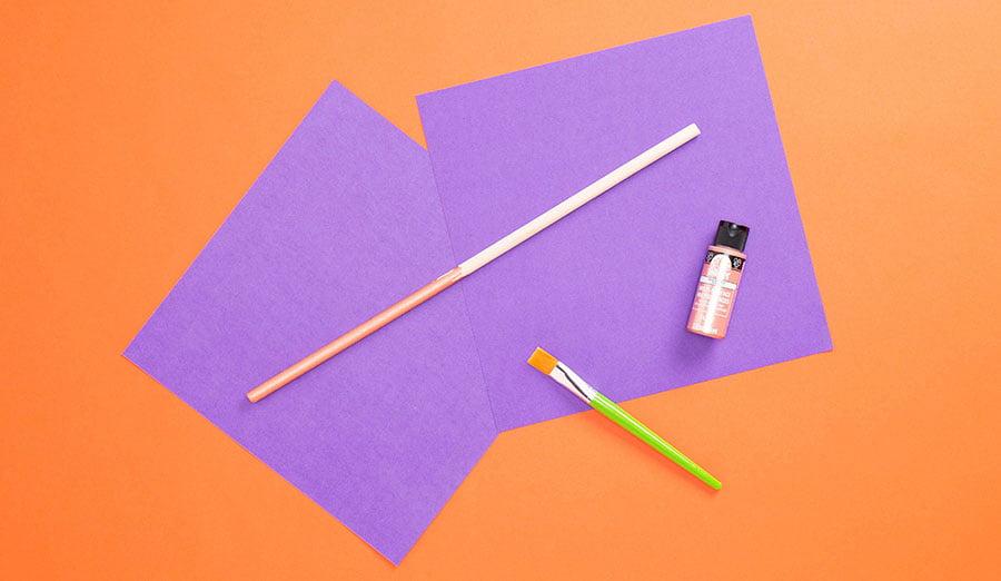 Step 1 paint dowel