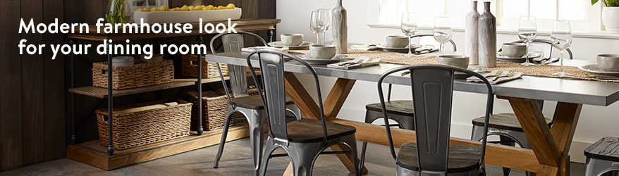 Modern farmhouse look for your dining room