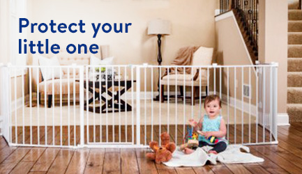Protect your little one with a baby gate.