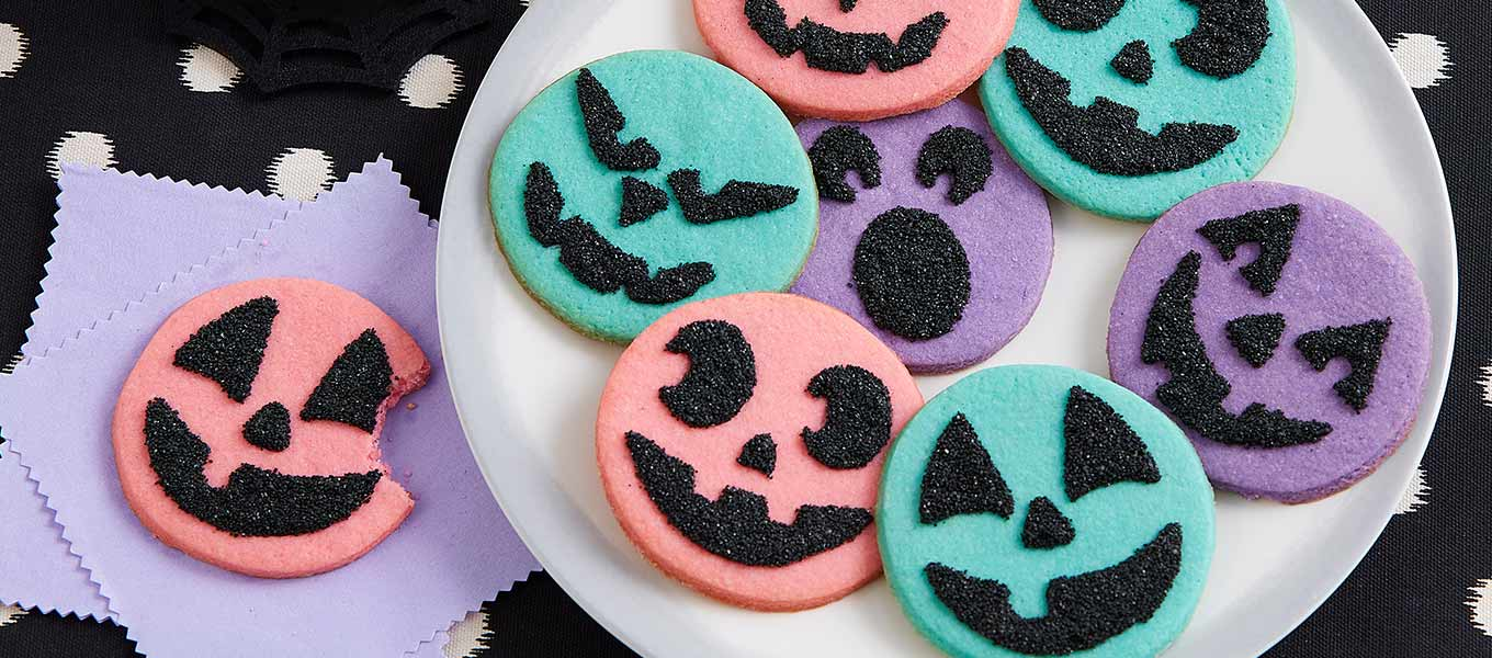 Tricked-out treats Add frightful flair to your baked goods with Wilton's spirited Halloween baking supplies.