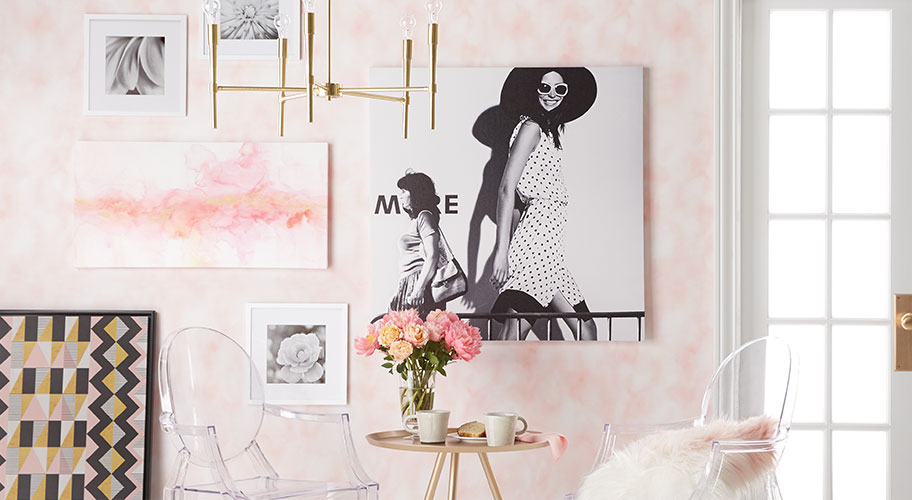 Art House. Embrace The Softer Side Of Wall Art With Pretty Pics In Subtle  Hues