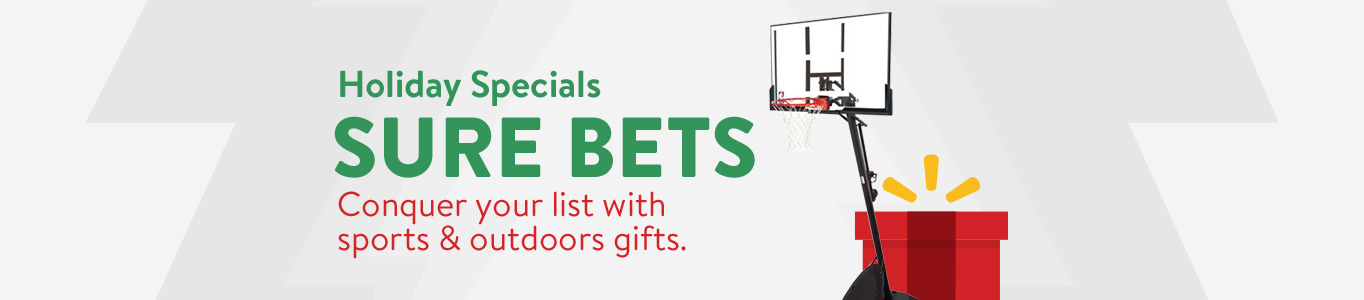 Shop holiday specials on sports and outdoor gifts